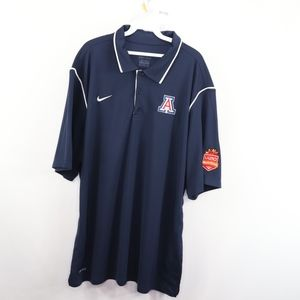 Nike Mens 2XL Arizona Wildcats Football Polo Shirt